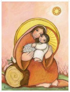VIRGEN CON EL NIÑO en rosa I Love You Mother, Divine Mother, Mother And Child, Religious Images, Religious Icons, Religious Art, Pictures Of Mary, Saint Esprit, Mama Mary