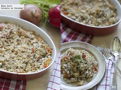 arroz huérfano Rice Recipes, Asian Recipes, Ethnic Recipes, Quinoa, Plate, Fried Rice, Fries, Side Dishes, Yummy Food