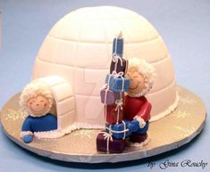 Igloo Cake by ginas-cakes on DeviantArt Cupcakes, Cupcake Cookies, Christmas Baking, Christmas Cakes, Xmas Cakes, Igloo Cake, Winter Wonderland Cake, Cake Shapes, Novelty Cakes