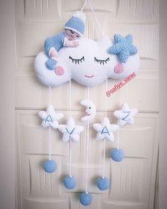 How To Crochet an Amigurumi Rabbit Crochet Baby Mobiles, Crochet Mobile, Crochet Baby Toys, Crochet Baby Clothes, Baby Knitting, Crochet Wreath, Crochet Crafts, Felt Crafts, Crochet Projects