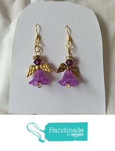 Light Purple Flower and Crystal Angel Earrings from Southern Women Crafts http://www.amazon.com/dp/B01CITUXGQ/ref=hnd_sw_r_pi_dp_fbx.wb0NCEWJ5 #handmadeatamazon