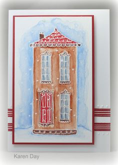 ginger house card by Karen Day
