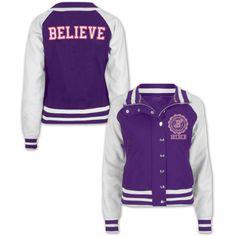 Justin Bieber Girls Purple Varsity Jacket https://justinbieber.bravadousa.spottrot.com/?product_uid=BGCMJU35