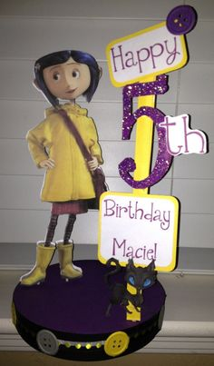 Coraline Birthday Party Custom Centerpiece. $17.50, via Etsy.