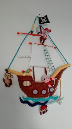 Barco pirata fieltro