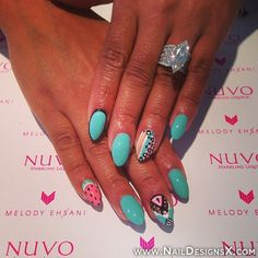 mix hot summer nail art