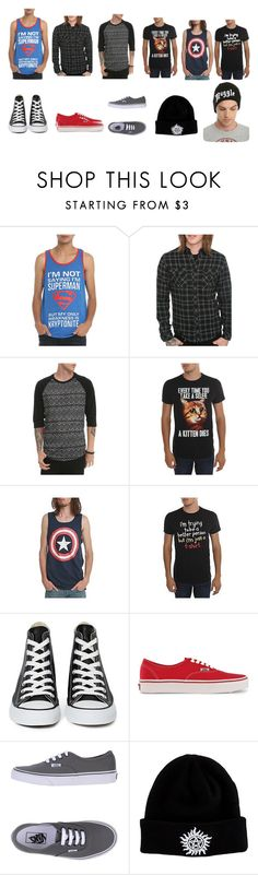 """""""Untitled #106"""" by xxstay-weirdxx ❤ liked on Polyvore featuring Converse and Vans"""