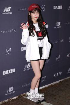 "IU 180315 ""Dazed×New balance Grey Launching Party New Balance 574 Grey, New Balance Outfit, Gangnam Style, Hot Shorts, Korean Celebrities, Cute Korean, Korean Outfits, Korean Singer, Korean Fashion"