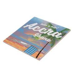 #Accra Ghana beach travel poster Tile - #beach #travel #beachlife