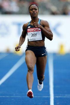 Carmelita Jetter IAAF World Athletics Championships - Day Two Carmelita Jeter, World Athletics, Beautiful Black Hair, Daily Burn, Summer Olympics, Team Usa, Amazing People, Track And Field, Princesas Disney