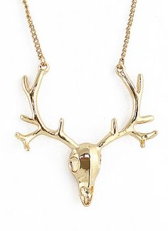 Gold Deer Chain Necklace pictures