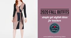 Feel stylish and comfy all day with these 5 lovely outfits to start the Fall 2020 school year! We just love these practical picks for the budget-conscious teacher. So go ahead and be inspired to start the academic year with a feel-good outfit from a new dress to a sleek pantsuit (*this post contains affiliate links). 1 – Tommy Hilfiger Striped-Cuff Cotton Cardigan via Amazon Match this V-neck cotton cardigan with your favorite blouse and slacks, and you're ready to go! 2 – Secret Agent Pull… Cotton Cardigan, Teacher Outfits, Casual Chic Style, Ready To Go, Slacks, Just Love, Gifts For Women, Feel Good, New Dress