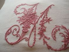Embroidered M