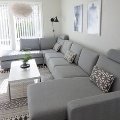 Gray color scheme. Couch, Furniture, Home Decor, Homemade Home Decor, Settee, Diy Sofa, Home Furniture, Interior Design, Decoration Home
