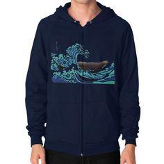 The Wave Zip Hoodie (on man) Shirt