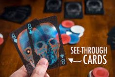 X-Ray Deck of Cards: Deceptively translucent playing cards featuring x-ray skulls. Human Skull, Religion, Skull Print, Skull And Bones, Deck Of Cards, Card Deck, Cool Things To Buy, Stuff To Buy, Game Design