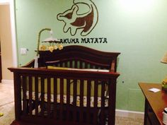 Hakuna Matata lion king nursery. Not this print but love the phrase with the picture!