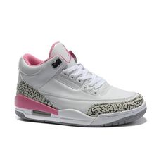Air Jordan 3 Women New Colorway White Black Pink $55.00