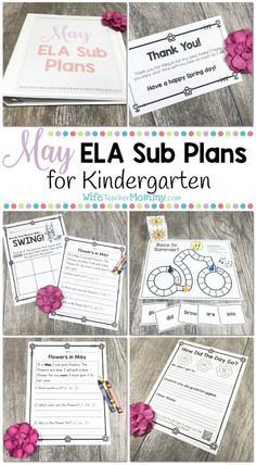 Kindergarten Sub Pla