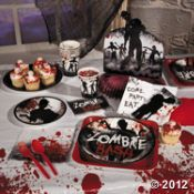 Zombie Party Supplies- Fun, I would love to have this as a theme, too funny.
