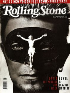 "David Bowie, RollingStone 6 June 1997.""  Bowie's all set for some Eyes Wide Shut-style Illuminati ritual action with his crucifixion masky."