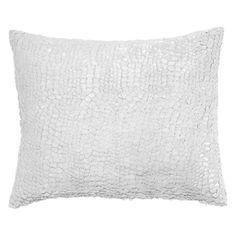 Pine Cone Hill Gloss Velvet Gray Decorative Pillow #laylagrayce
