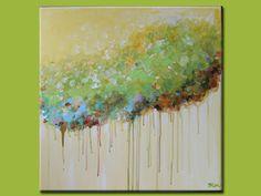 pastelpresent:Acrylic Paintingmodern abstract art lime...