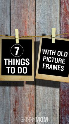 7 Things To Do With Old Picture Frames! Great DIY post with tons of adorable crafts to do! Repin for when you find adorable old picture frames that you want to do a craft with!
