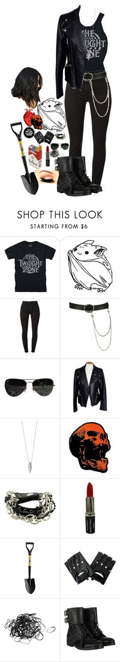 """They don't know about us"" by demiwitch-of-mischief ❤ liked on Polyvore featuring Zone, Wet Seal, Ray-Ban, Alexander McQueen, Eddie Borgo, Manic Panic NYC, Handle and AllSaints"
