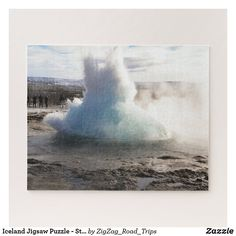 Iceland Jigsaw Puzzle - Strokkur Geyser Haukadalur | Travel gift idea | Gift for traveler | Iceland gift | Landscape Jigsaw Puzzle | geyser Jigsaw Puzzle >affiliate Iceland Destinations, Iceland Travel Tips, Iceland Landscape, Iceland Road Trip, Custom Gift Boxes, Travel Gadgets, Travel Gifts, Plan Your Trip, Travel Accessories