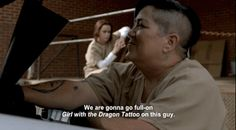 "The Girl with the Dragon Tattoo by Stieg Larsson | All The Books Referenced On Season 3 Of ""Orange Is The New Black"""