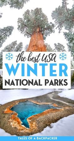 Exploring National Parks is a great way to get outside, whatever the weather! Here are the best National Parks to visit in Winter. From chilling on the beach to snowshoeing in the mountains, we've got you covered | National Parks in the Winter | USA National Parks | National Parks in the USA | Which National Park to go to in Winter | Winter Vacation | Winter Destinations | Winter Trip to National Parks | US Destinations | National Parks in December | National Parks in January |