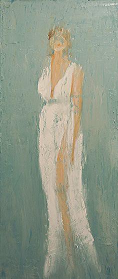 """A World View Collection. """"Brinna"""", 30x12, Oil on Canvas. Artist: Rene Romero Schuler. www.reneschuler.com"""