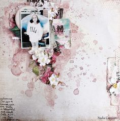 Just My Scrapping World.. : A layout for The Flying Unicorn February Kit Of The Month