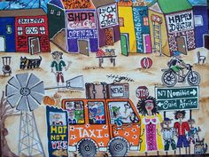 Shanty Town on Canvas