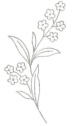 quelques fleurs on se Hand Embroidery Patterns Flowers, Hand Embroidery Flowers, Hand Embroidery Designs, Ribbon Embroidery, Embroidery Stitches, Easy Flower Drawings, Easy Drawings, Flower Doodles, Voici
