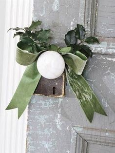 add a touch of Christmas to your doorknobs