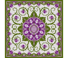 Deadly Nightshade Hawaiian Quilt fabric by ceanirminger on Spoonflower - custom fabric