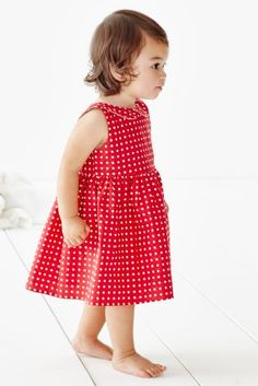 Red polka dots NEED to be in your little one's wardrobe this summer, especially when they look like this!