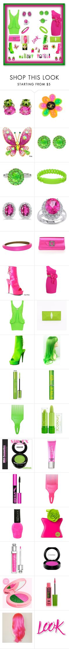 """""""Dress up Styled Neon"""" by mcronald-denise ❤ liked on Polyvore featuring Christina Addison, Chanel, Color My Life, Marc by Marc Jacobs, BillyTheTree, Miadora, Alexis Bittar, Manolo Blahnik, Notte by Marchesa and WearAll"""