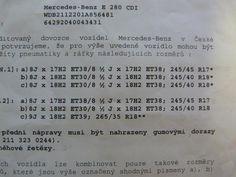 W211 - Disky a pneu - E-Class W211 - Fórum - Mercedes Benz klub