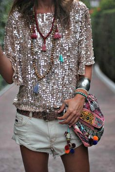 boho - glitter - sequins