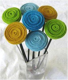 las flores de fieltro y listón más fáciles para decorar diademas