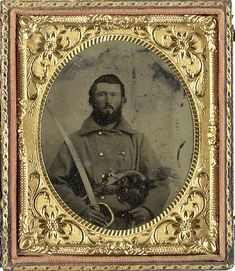 Sixth Plate Tintype of Obediah Thomas, 84th/28th... - The Civil War Parlor