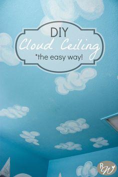 DIY cloud ceiling :