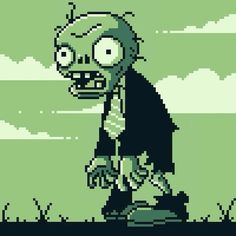 New video is up! #plantsvszombies #zombie #pixelart #animation #walking #pixelanimation #pixel #gameboygreen #retro #8bit #fanart #pxlflx