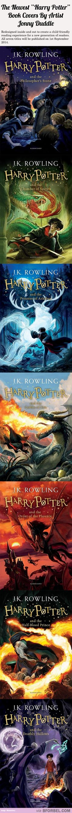 """The Newest """"Harry Potter"""" Book Covers By Artist Jonny Duddle…"""
