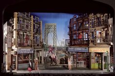 Set design for original Broadway production of IN THE HEIGHTS. Designed by Anna Louizos.