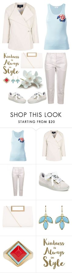 """Kindness is always in Style. Yes."" by musicfriend1 ❤ liked on Polyvore featuring Sonia Rykiel, Armani Jeans, Jil Sander, Puma, New Look, Irene Neuwirth, Fendi and Sixtrees"