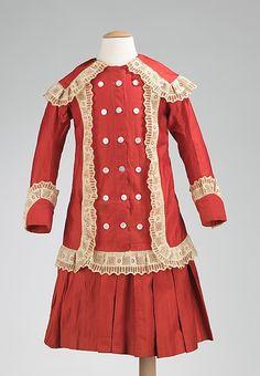 Childs dress.  1886.